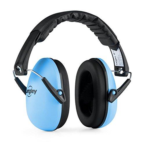 Langley Earo • Cuffie Antirumore Passive per Bambini • Grandezza Media • Rumore ridotto fino al 33 dB • Imbottitura extra morbida • Girevoli • Blu