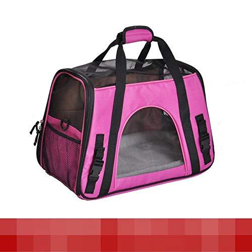 s Großes Haustier Tragbare Haustier Tasche Aus Der Tragbaren Tasche Teddy Hund Katze Tasche Heimtierbedarf Hersteller Großhandel [Geschenk Plüschmatte] Groß: 47 * 24 * 33Cm ()