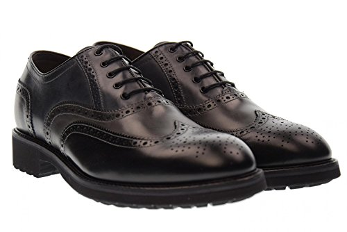 NERO GIARDINI chaussures homme A705272U lacées / 100 ANTHRACITE NOIR BLEU Nero / Antracite / Blu