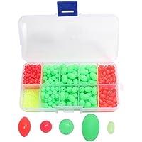 croch 700unidades perlas para pesca, 5diferentes tamaño, bombilla perlas (verde)