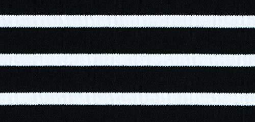 modAS Bretonischer Schal 99 schwarz/weiss gestreift 20x160 cm Nr. 2545