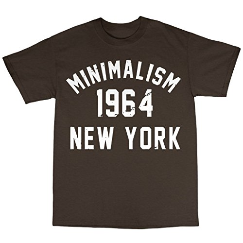 Minimalism 1964 T-Shirt 100% Baumwolle Zartbitter-Schokolade