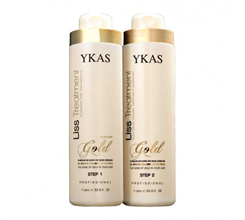 af8b18f9bf5 Y-Kas Gold Liss Treatmet Escova Progressiva de Ouro Brazilian Keratin Hair  Straightening Smoothing System