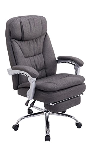 Swivel desk chair, Manager Boss office chair, High Back Executive Fabric Chair Recliner, Extra Padded Computer Chair Heavy duty ergonomic office chair Multi-Function Mechanism / dark gray eMarkooz