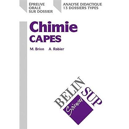Chimie CAPES : Epreuve orale sur dossier