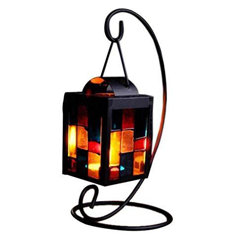 IGEMY- Bougeoir Classique, rétro Fer Style marocain de Noël Bougeoir Bougeoir Lampe lumière