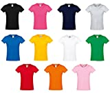 10er Pack Fruit of the Loom Kids Girls Sofspun® T-Shirt