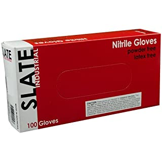 Ammex SN Slate Black Nitrile Glove, Latex Free, Disposable, Powder Free, XX-Large (Box of 100)