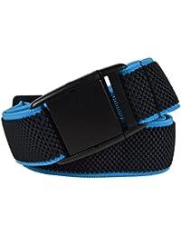 Olata Cinturón Elástico para Hombres/Mujeres con Hebilla Plastico, totalmente ajustable