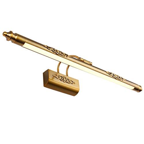 LEDMOMO 50 CM Badezimmer Spiegel Lampe Wasserdichte Retro Bronze Schrank Badezimmer Spiegel Eitelkeit Lichter (Weißes Licht)
