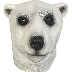 QIAO Halloween Props Animal Mask Decoration Máscara del Oso Polar Cosplay Party Tidy Latex Props Masquerade Headgear ( Color : A )