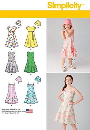 Simplicity Schnittmuster 7785. Hh Mädchen Kleid mit Hut (Aus Mädchen Kleid Mit)