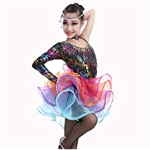 Trajes de Vestir de Baile de Tango Vestido de Baile Latino Traje de Baile de Gimnasia