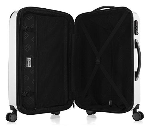 HAUPTSTADTKOFFER - Alex - NEU 4 Doppel-Rollen Großer Hartschalen-Koffer Koffer Trolley Rollkoffer Reisekoffer, TSA, 75 cm, 119 Liter, Weiß - 5