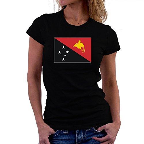 Teeburon Papua New Guinea Flag Damen T-Shirt -
