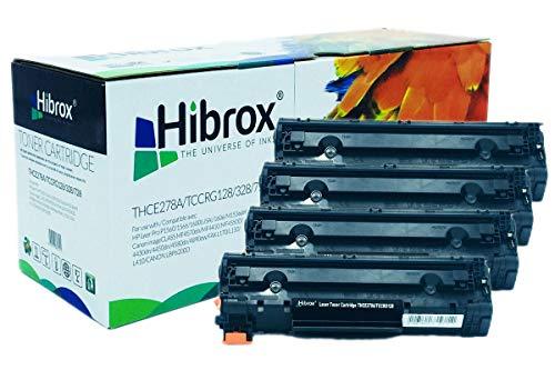 Pack 4Pcs Hibrox Toner Compatible HP CE278A 78A Canon 128 CRG728 pour Canon ISENSYS FAX L150 FAX L170 FAX L410 MF 4410 4430 4450 4550 4550D 4570 HP LASERJET P 1606 DN P1566 LASERJET PRO M 1530 M1536