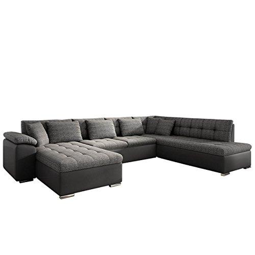 Eckcouch Ecksofa Niko bis! Design Sofa Couch! mit Schlaffunktion und Bettkasten! U-Sofa Große...