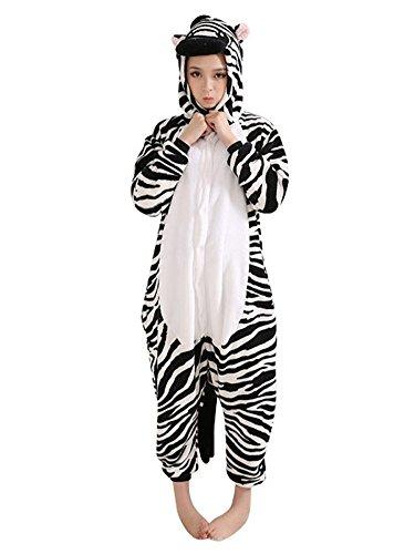 Schulter Zebra (Keral Kigurumi Pyjama Erwachsene Anime Cosplay Halloween Kostüm Kleidung_zebra_M)