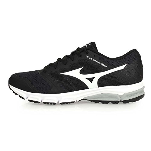 Mizuno Synchro Md, Chaussures de Running Homme, Noir Noir