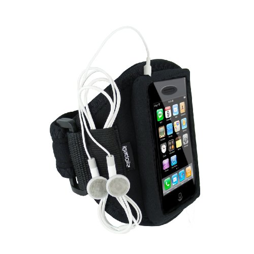 igadgitz Nero Fascia Braccio Armband Sport Corsa Fitness per Apple iPhone 3G & 3GS 8GB, 16GB & 32GB Android Smartphone