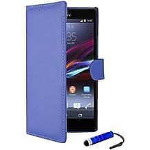 Sony Xperia Z2 - Funda con tapa para Sony Xperia Z2, compatible con Sony Xperia Z2, color azul