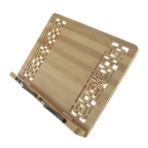 Preisvergleich Produktbild perfeclan Bambus Buchständer Buchhalter Kochbuch-Noten-Leseständer,  Stabil und Tragbar - 39 x 28 cm