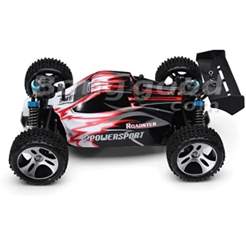 Yacool ® Wltoys A959 Rc coche 2.4Gh 1/18 4WD Off-Road Buggy - rojo