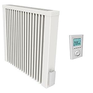 Las superficies de memoria con calefacción Thermotec radiocámara-termostato, 1300 W con capacidad de almacenamiento de núcleo de ladrillo refractario