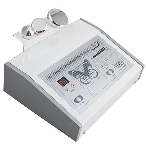 carejoy Kosmetisches Ultraschallgerät Ultraschall mit 3 Probe für Körper, Gesicht, Augen, Anti-Falten,Massagegerät, Haut Straffung, Cellulitis, Apparative Kosmetik