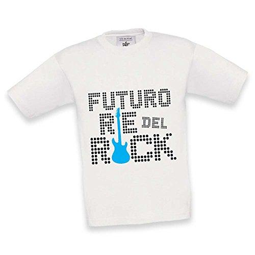 T Shirt Maglietta Maglia Bambino Futuro Re Del Rock/Futura Regina Del Rock