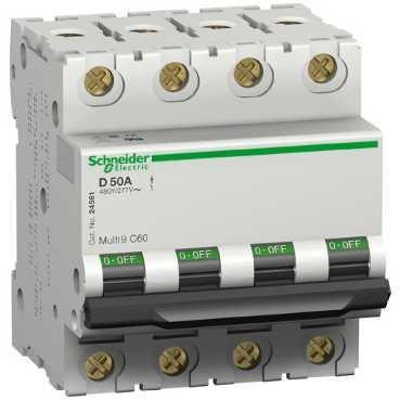 SCHNEIDER ELECTRIC–DISYUNTOR 2449050A C UL 4P 131T-C60N ACTI9–DISYUNTOR 0785901880912