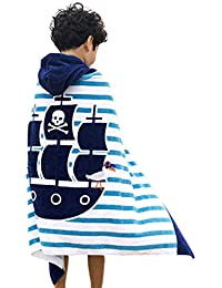 Repuhand Niños 100% algodón Playa Toalla con Capucha Albornoz Infantil Poncho Toalla con Capucha para niño niña…