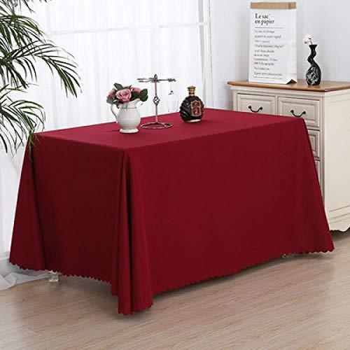 SKSK Weinrot Ausstellung Tischdecke Ausstellung Veranstaltung anmelden Tischdecke Büro Konferenztischdecke Tuch 180 × 320cm