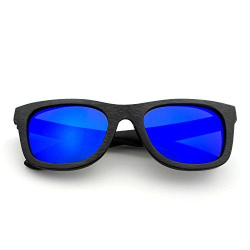 Naudamp Sonnenbrillen aus Holz für Herren und Damen polarisierte UV-Schutz Bambus Frame Vintage Eyewear Sonnenbrillen