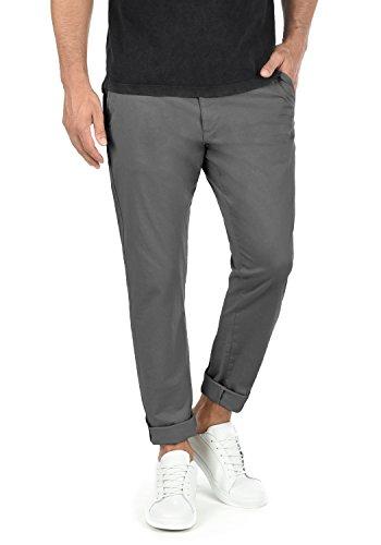 !Solid Machico Herren Chino Hose Stoffhose Mit Gürtel Aus Stretch-Material Regular Fit, Größe:W30/32, Farbe:Dark Grey (2890)