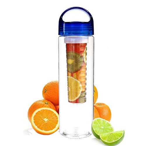 LARRY-X 700ml Infuser Wasserflasche Obst Infuser Wasserflaschen Sport-Saftflasche mit auslaufsicherem Verschluss und Griff