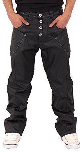 g-king-mens-boys-star-waxed-finished-jeans-time-is-nappy-money-urban-hip-hop-wear-w36-l32