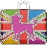Bow Wow Meow mit Personalisierung Kennel Club rosa Hundemarke (Klein) | GRAVURSERVICE | Offizielle, personalisierte Crufts-Haustiermarken