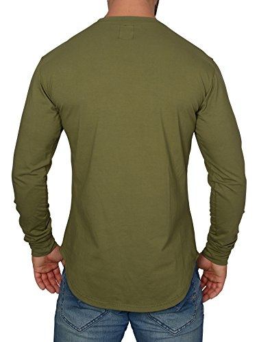 MMC Herren Oversize Longsleeve - Basic Sweatshirt Langarm Shirt Khaki