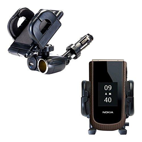 Duale Nokia 3555 3610 3711 USB / 12 V Ladegerät- und Zigarettenanzünderhalterung...