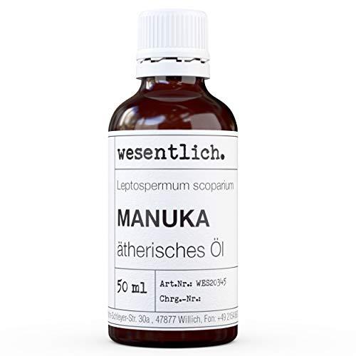 wesentlich. Manukaöl - ätherisches Öl - 100% naturrein (Glasflasche) - u.a. für Duftlampe und Diffuser (50ml)