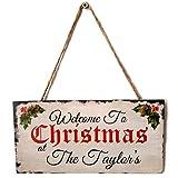 Nrpfell Tuer hangendes Zeichen, Frohe Weihnachten Holzerne Tafelplatte Tuer Wand, die holzerne Zeichen Ausgang Dekoration hangt