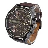 NEEKY Smartwatch,Sportuhren,Stoppuhren,Schrittzähler Herren Fitness - Luxus Militärarmee Dual Time Quartz Large Dial Sport sockenuhr Oulm