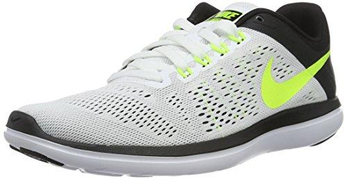 Nike Herren Flex 2016 RN Laufschuhe,,, Weiß (White / Volt-Black), 44