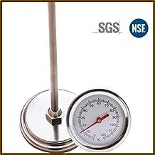 ... 50 cm Longitud 0 ℃ -120 ℃ Termómetro de suelo de compost Detector de sonda de medición de metales de acero inoxidable de calidad alimentaria superior