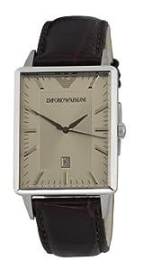Reloj Emporio Armani AR2419 de cuarzo para hombre con correa de piel, color marrón de Emporio Armani