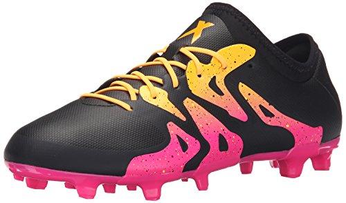 Adidas Performance X 15.2 Firm / artificielle Terrain de soccer à crampons, noir / choc Mint / blan Black/Shock Pink/Gold