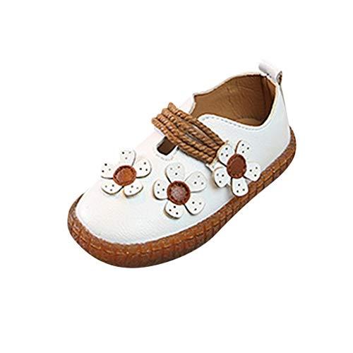koperras Babyschuhe MäDchen Kleider Festlich Kinder MäDchen Weiche Prinzessin Schuhe Einzelne Schuhe Sandalen KnöPfe Blumen Einfarbig Komfort Klettleder