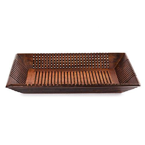 Rusticity Wood Serving Tray Platter- Medium | Handmade | (12x8