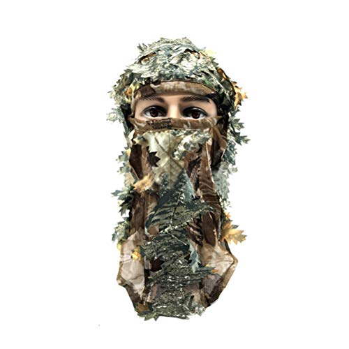schliff Atmungsaktiv Blätter 3D Gesichtsmaske Jagd Camo Gesichtsmaske Freie Größe ()